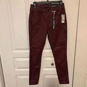 2/$30 Vegan Leather high rise skinny pant